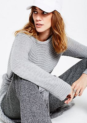Soft knitted jumper in a ribbed finish from s.Oliver