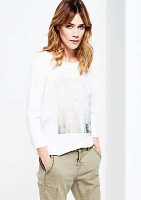 Beautiful top with 3/4-length sleeves and decorative photo print from s.Oliver