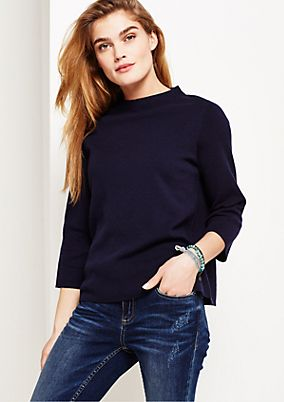 Smart fine knit jumper with ¾-length sleeves from s.Oliver