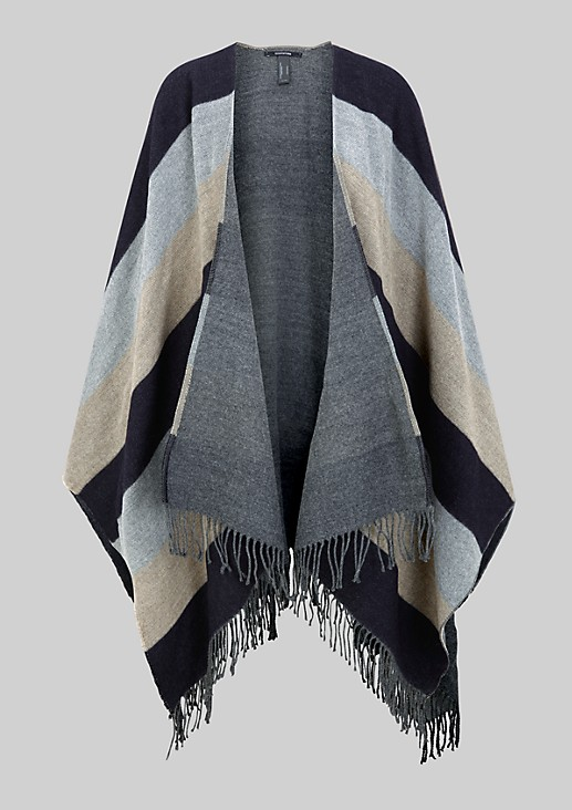 Soft poncho with colour blocking from s.Oliver