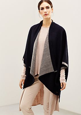 Fluffy poncho with beautiful detailing from s.Oliver