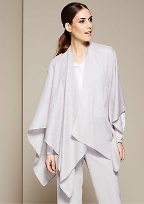 Glamorous poncho with glitter threads from s.Oliver