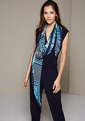 Delicate chiffon scarf with a stunning all-over print from s.Oliver