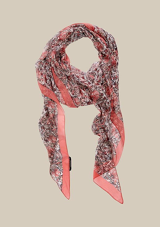 Delicate chiffon scarf with a wonderful pattern from s.Oliver