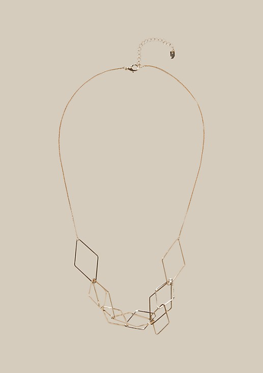 Long necklace with symmetrical pendants from s.Oliver