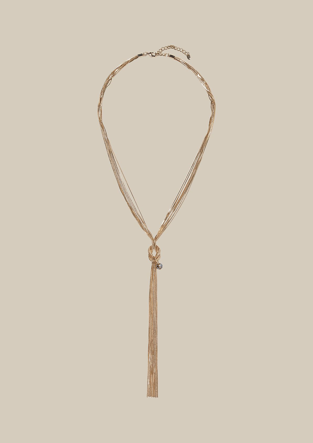 Long necklace with a decorative knot from s.Oliver