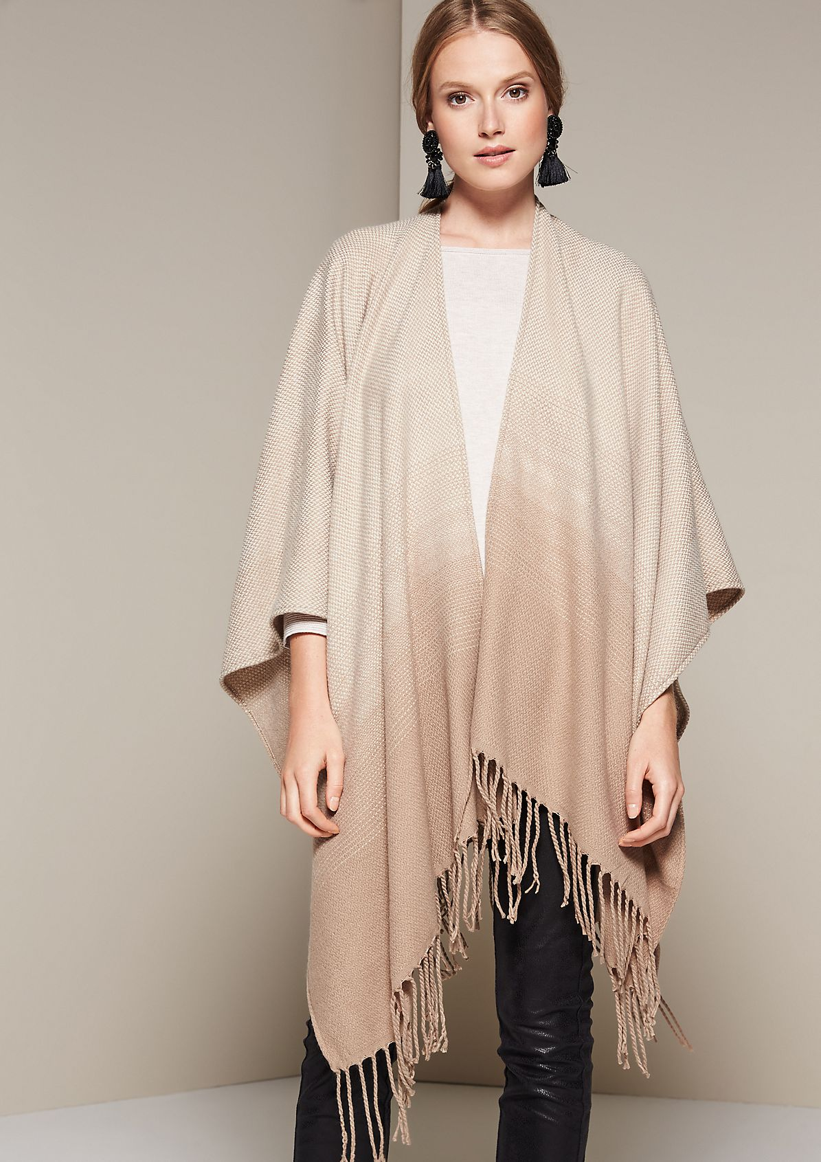 Soft knit poncho in a tweed finish from s.Oliver