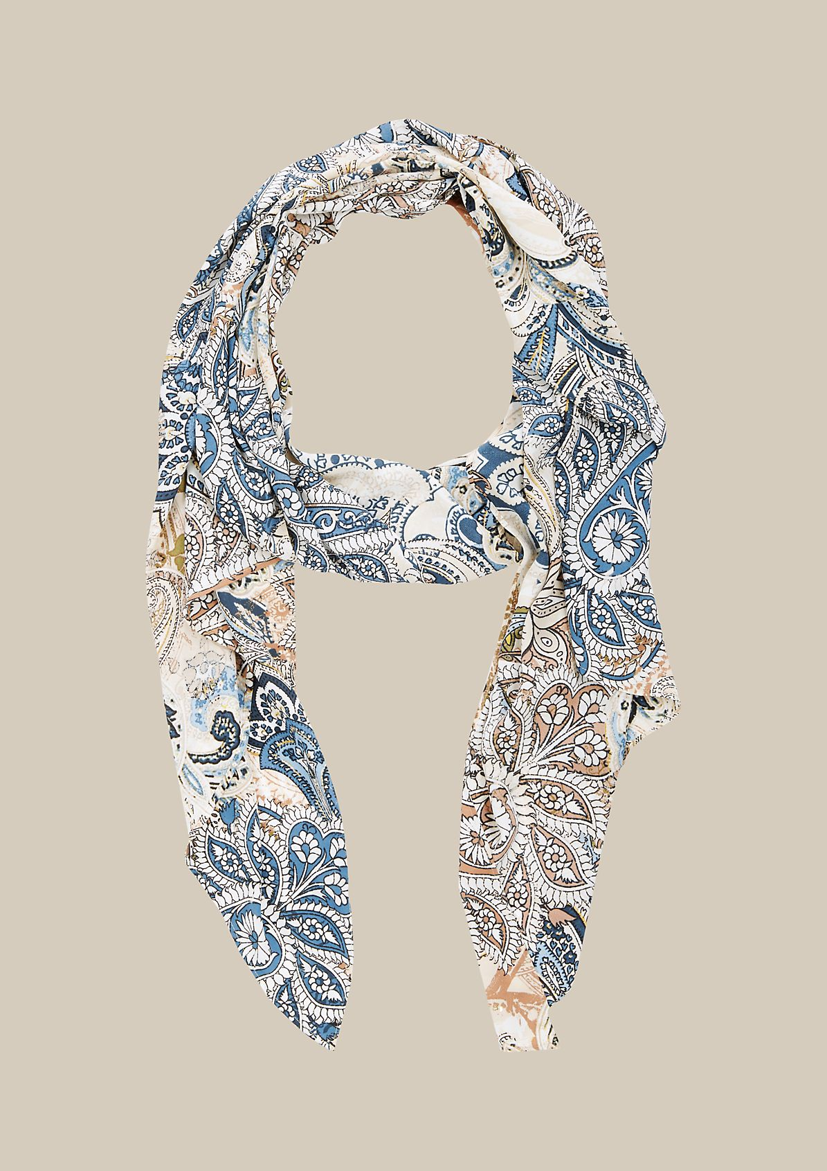 Beautiful chiffon scarf with a decorative pattern from s.Oliver