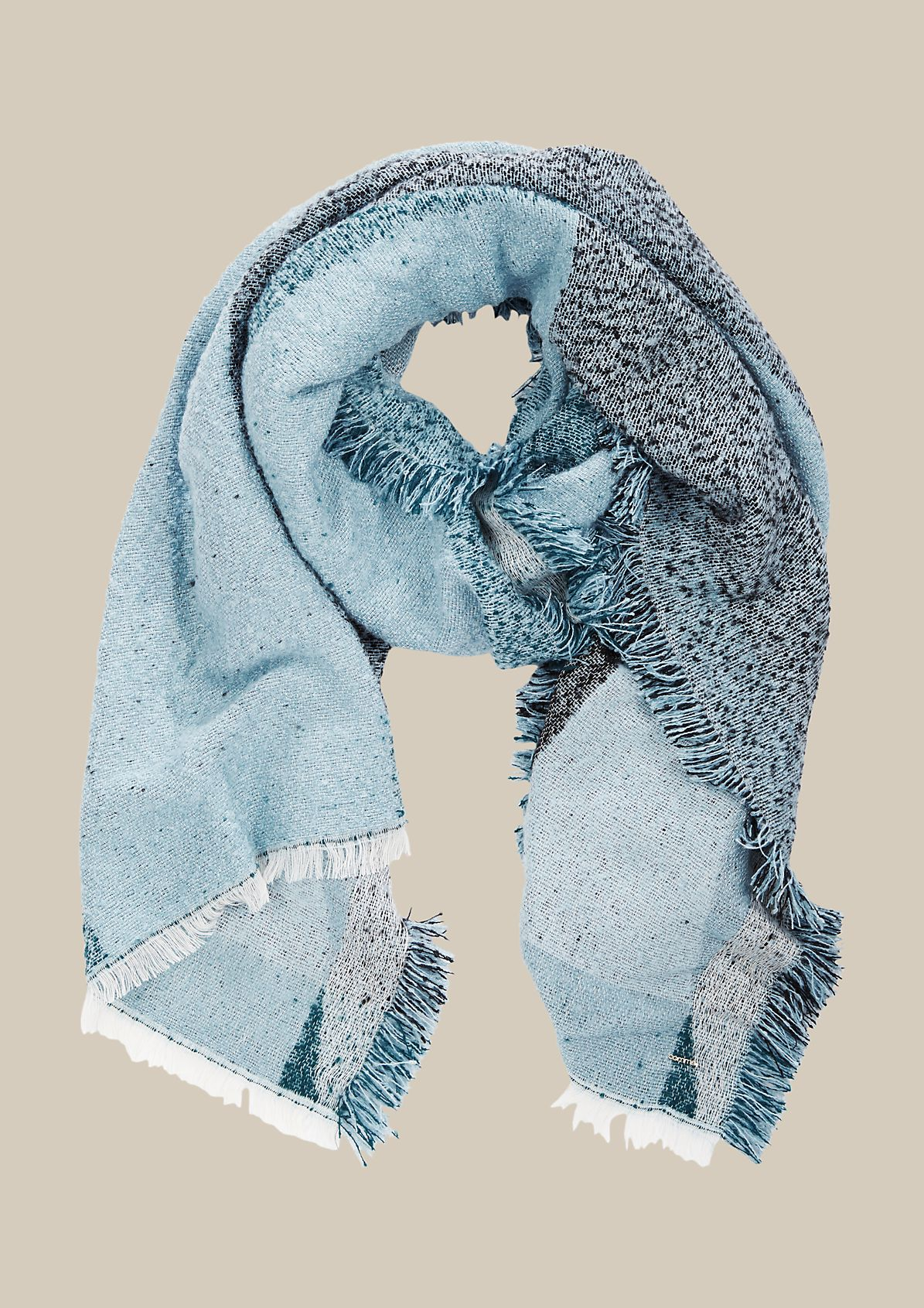 Extra soft knit scarf with a decorative pattern from s.Oliver