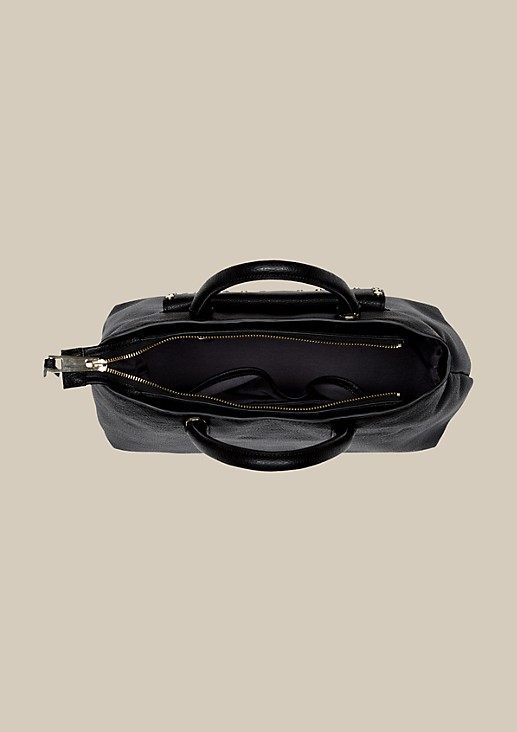 Voluminous shopping bag in a genuine leather look from s.Oliver