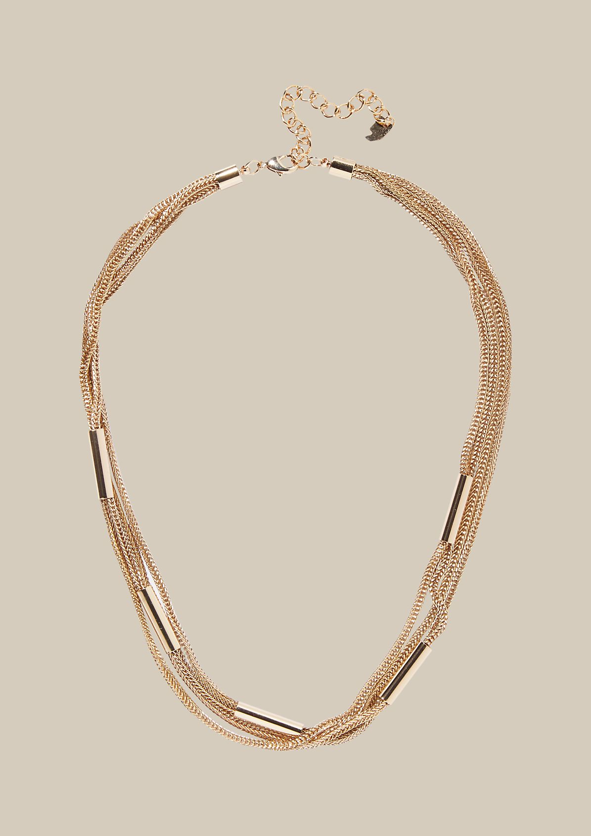 Elegant necklace with decorative casings from s.Oliver