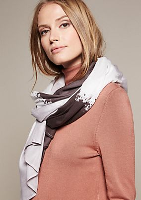 Lightweight scarf with an abstract striped pattern from s.Oliver
