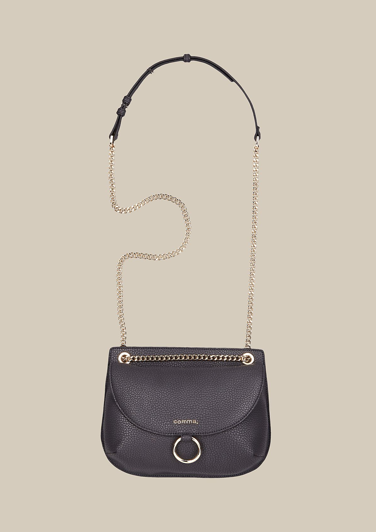 Elegant evening bag in fine faux leather from s.Oliver