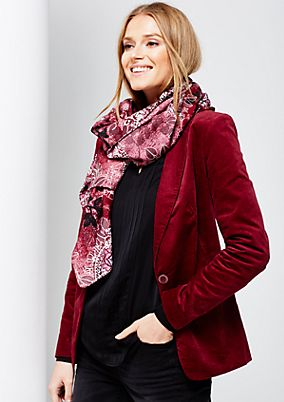 Lightweight scarf with a beautiful all-over pattern from s.Oliver
