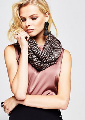 Casual snood with a fabulous all-over print from s.Oliver