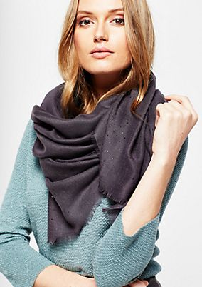 Soft scarf with sparkling gemstones from s.Oliver