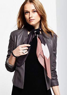 Elegant satin scarf with an exciting all-over print from s.Oliver