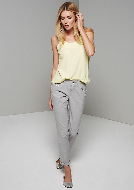 Casual summer top with fine details from s.Oliver