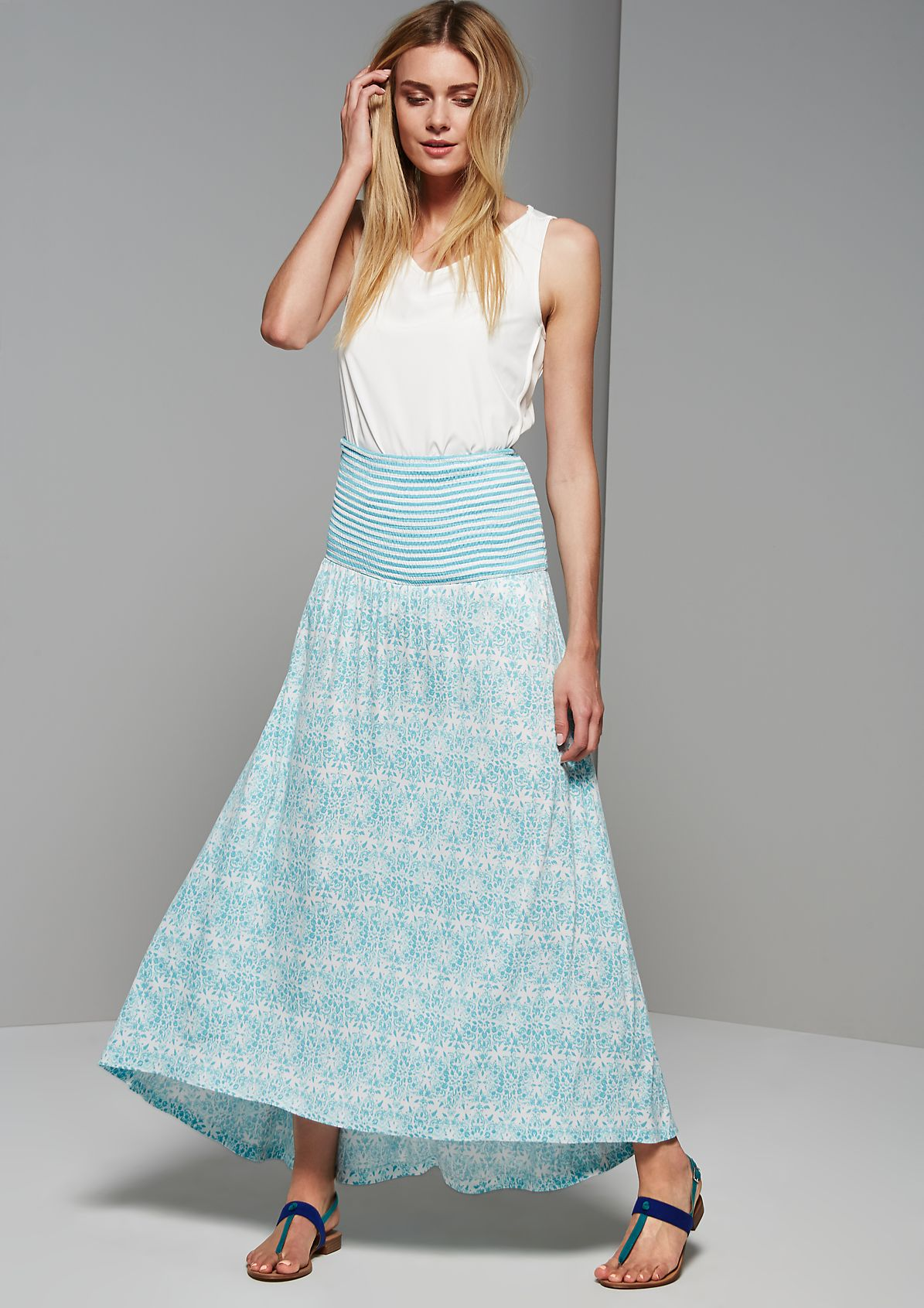 Summer dress with a beautiful floral pattern from s.Oliver