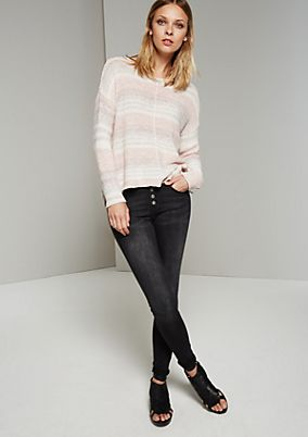 Summery knitted jumper in a trendy striped look from s.Oliver