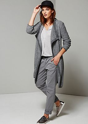 Fluffy long cardigan in a two-tone design from s.Oliver