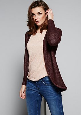 Fluffy bouclé cardigan with fine details from s.Oliver