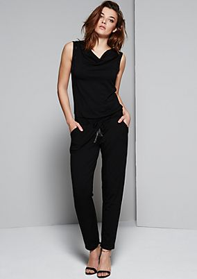 Elegant jumpsuit with glamorous, decorative elements from s.Oliver