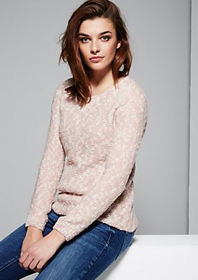 Cosy knit jumper in a sophisticated two-tone design from s.Oliver