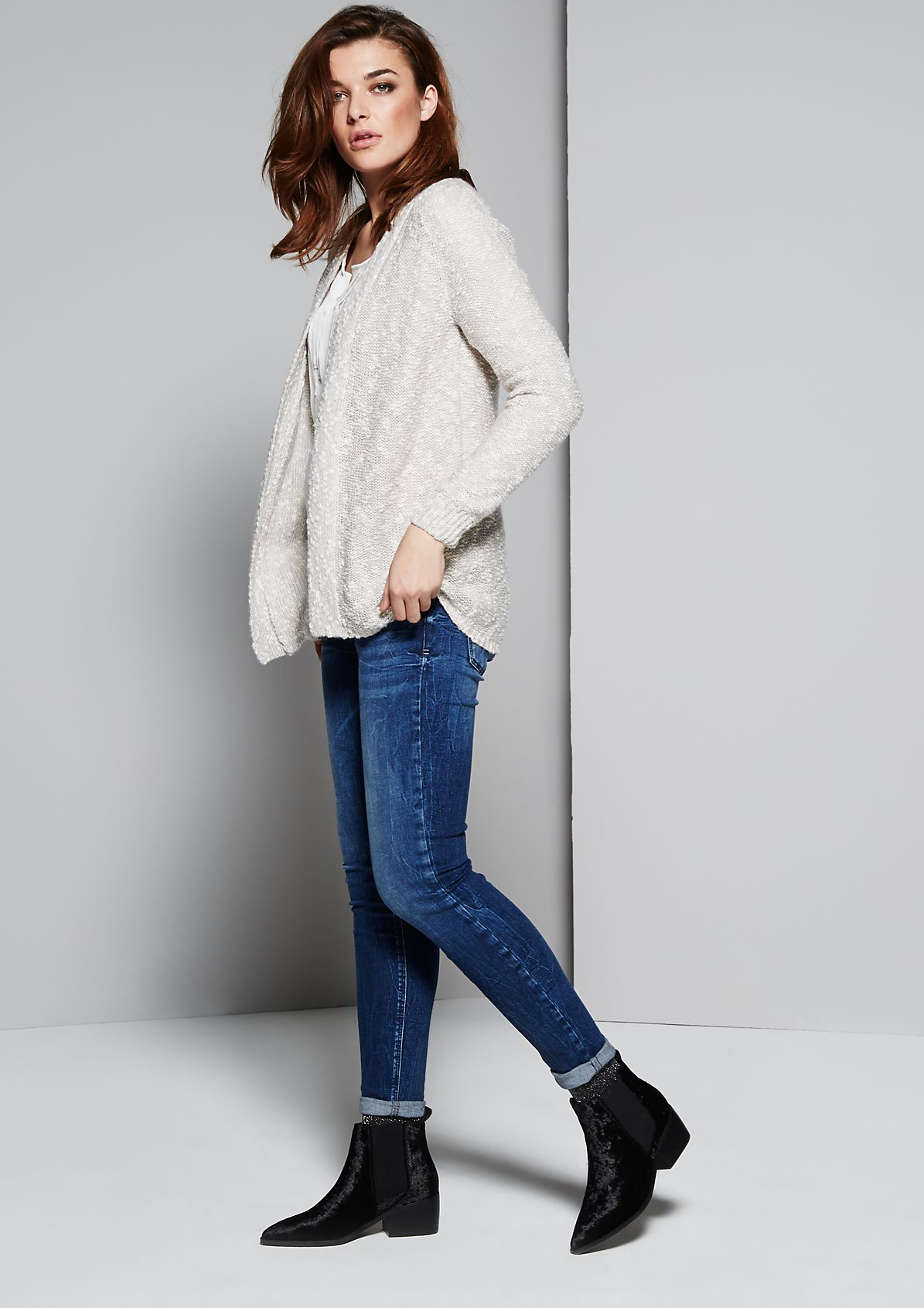 Fluffy cardigan in two-tone yarn from s.Oliver