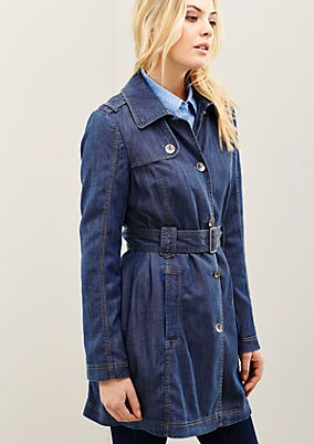 Sporty coat in a trendy denim look from s.Oliver