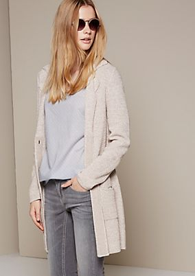 Soft long knit cardigan with fabulous details from s.Oliver