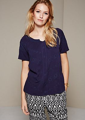 Casual summer blouse with beautiful embroidered details from s.Oliver
