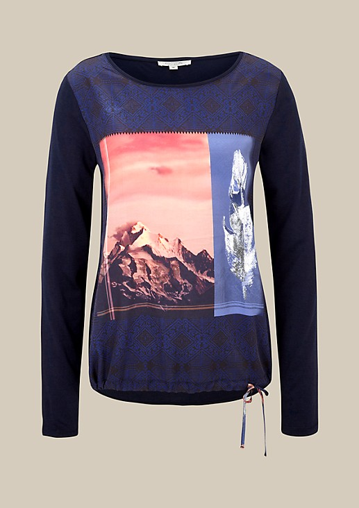 Beautiful jersey long sleeve top with a colourful front print from s.Oliver