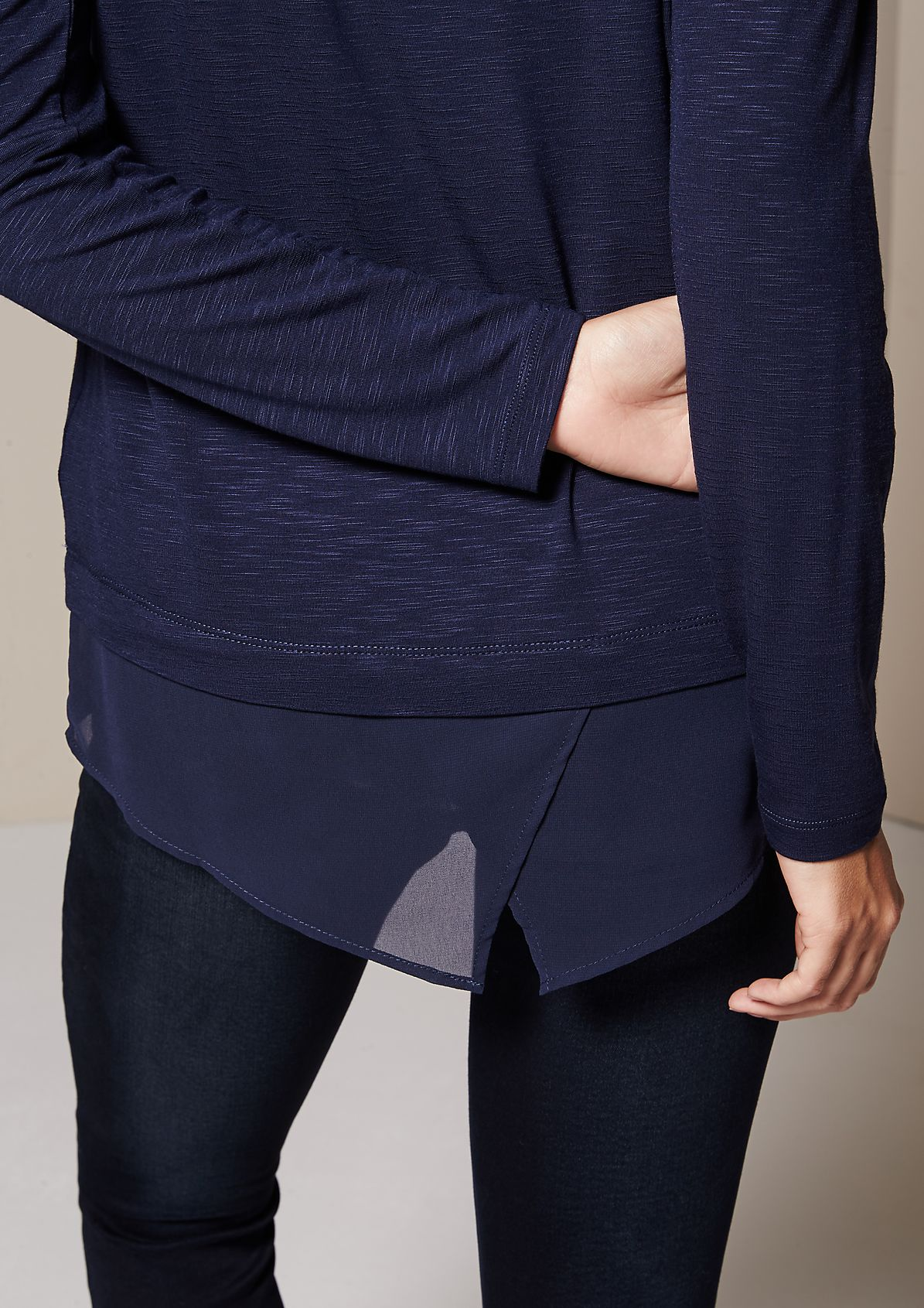 Casual jersey long sleeve top with lovely details from s.Oliver