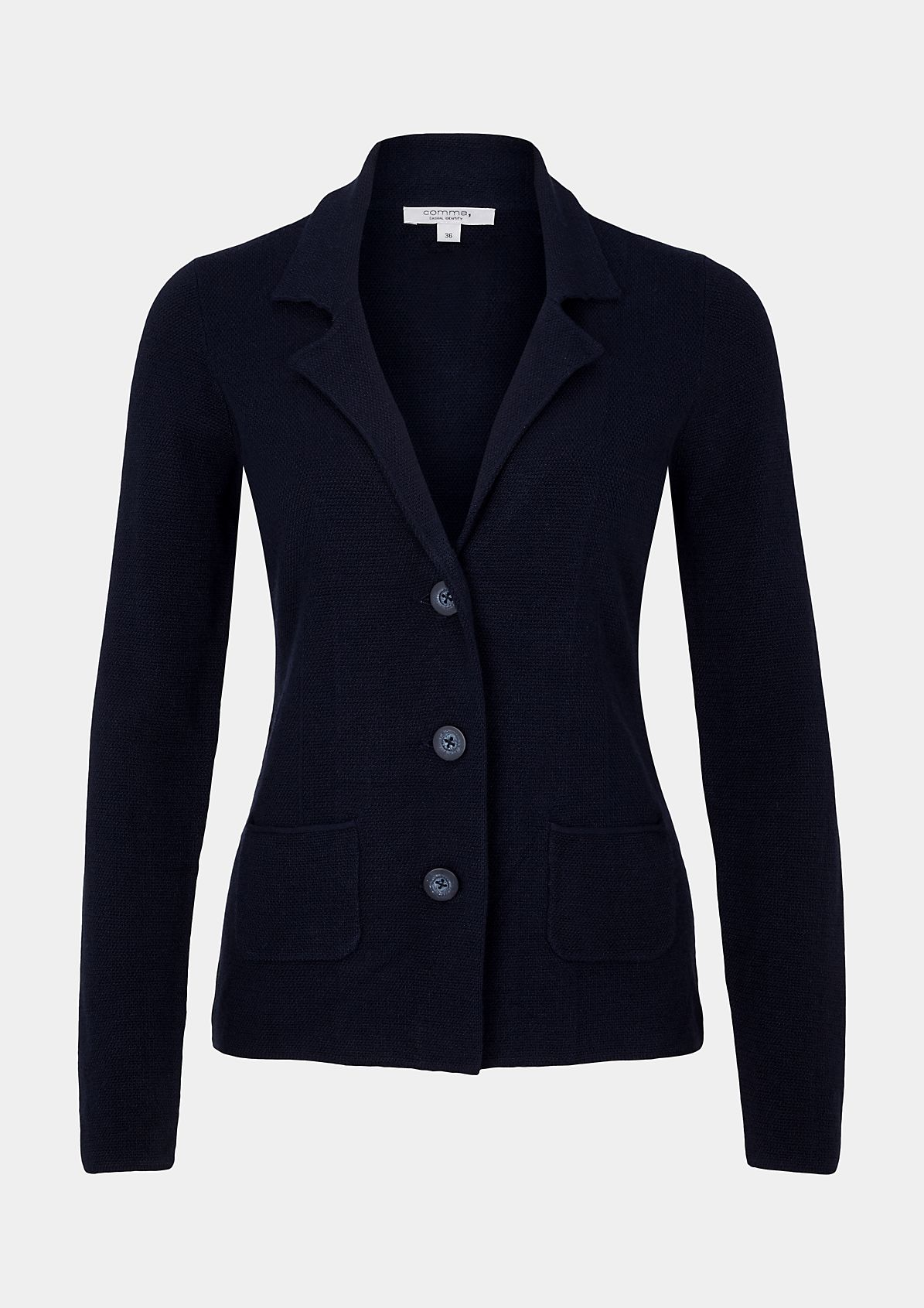 Casual business blazer with a beautiful textured pattern from s.Oliver