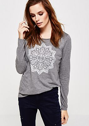 Beautiful long sleeve top with a decorative mandala pattern from s.Oliver