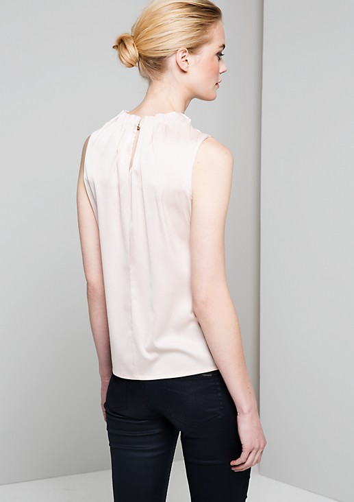 Top with a subtle sheen and sophisticated puckers from s.Oliver