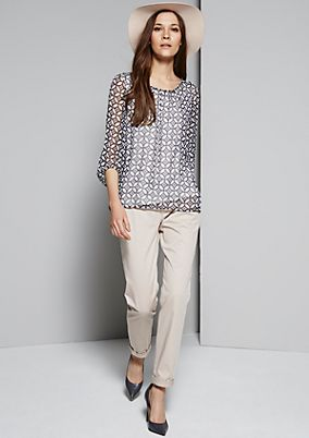 Delicate chiffon blouse with a sophisticated pattern from s.Oliver
