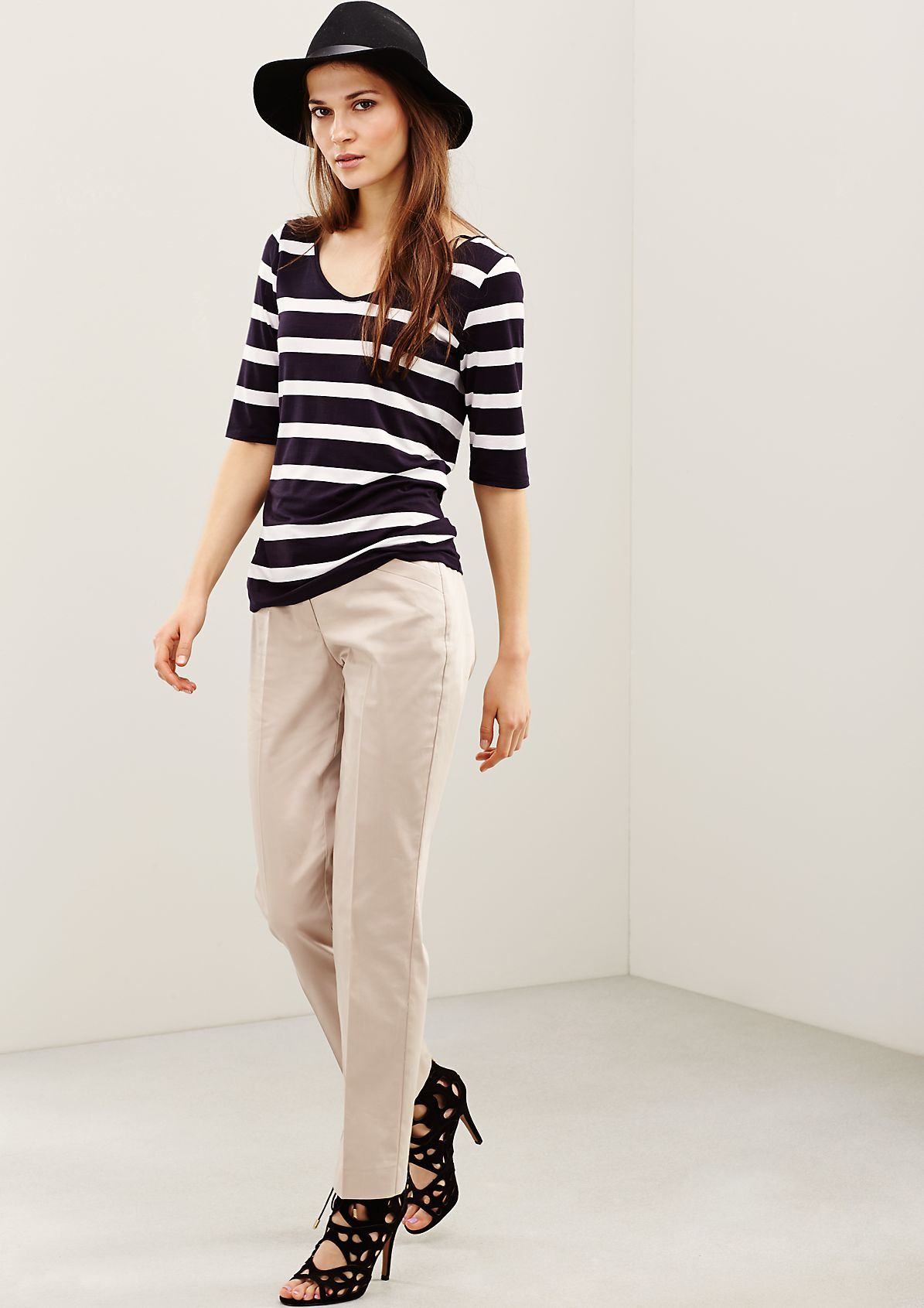 Sporty short sleeve top in a classic striped look from s.Oliver