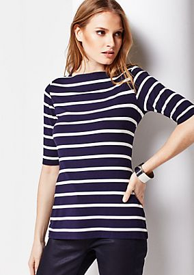 Casual jersey top with a classic striped pattern from s.Oliver