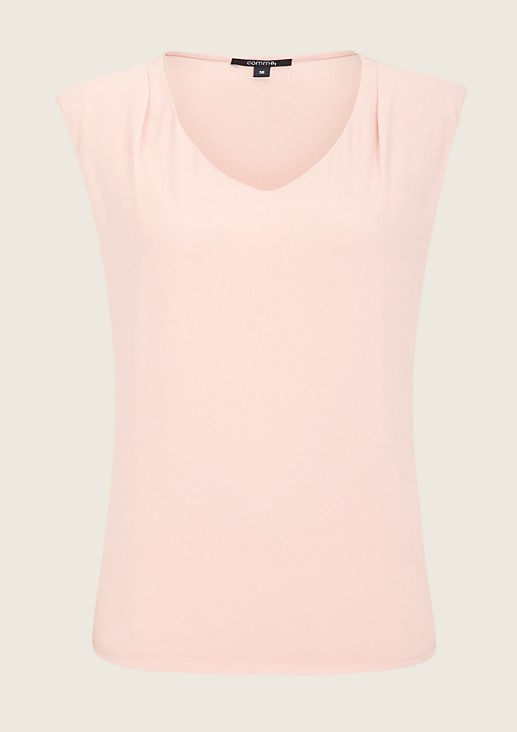 Lightweight mixed fabric top from s.Oliver