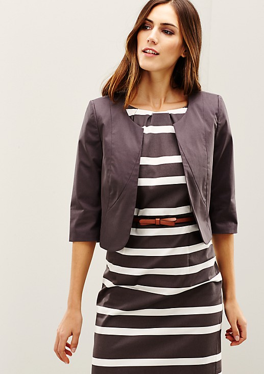 Elegant short blazer made of fine satin from s.Oliver