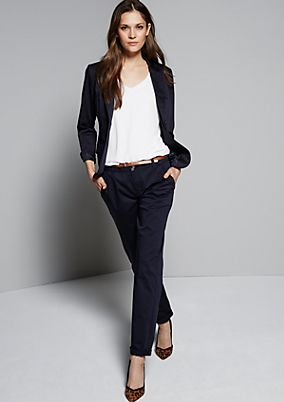 Elegant satin blazer with sophisticated details from s.Oliver