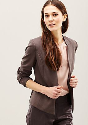 Elegant blazer with a fine pattern from s.Oliver