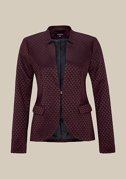 Extravagant blazer with a glamorous jacquard pattern from s.Oliver