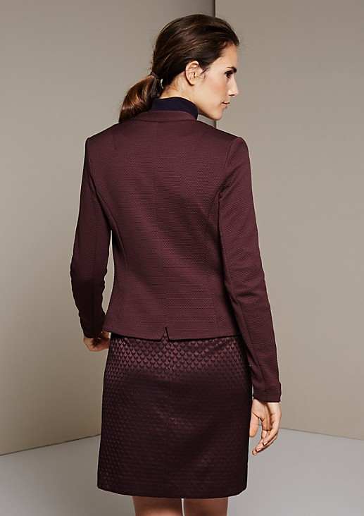 Elegant business blazer with a sophisticated honeycomb pattern from s.Oliver