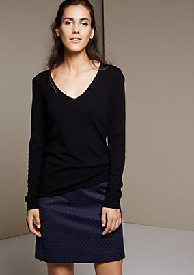 Beautiful knit jumper with rolled edges from s.Oliver