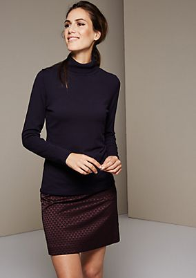 Lightweight knit jumper with a polo neck from s.Oliver