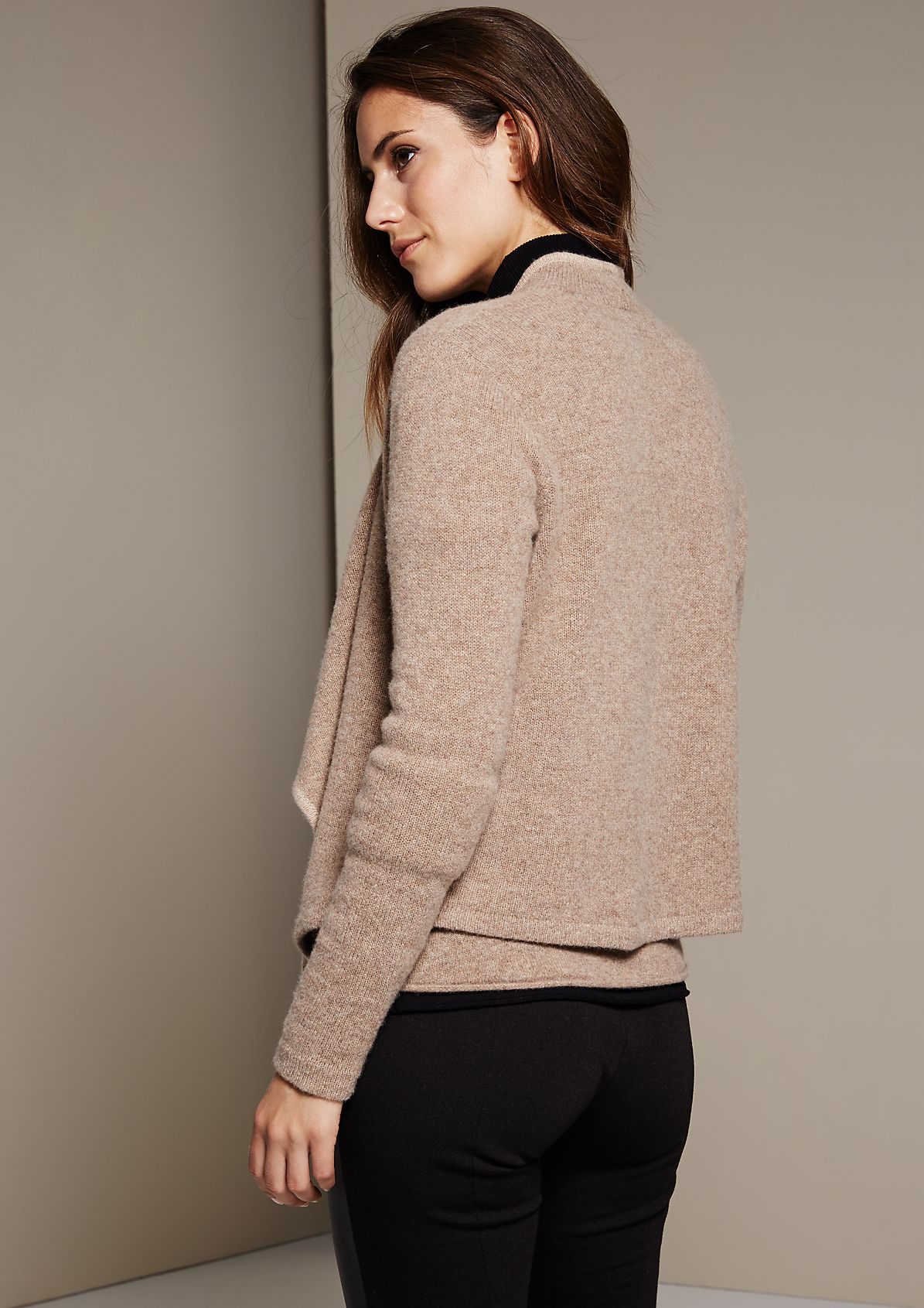 Cosy wool cardigan with beautiful details from s.Oliver