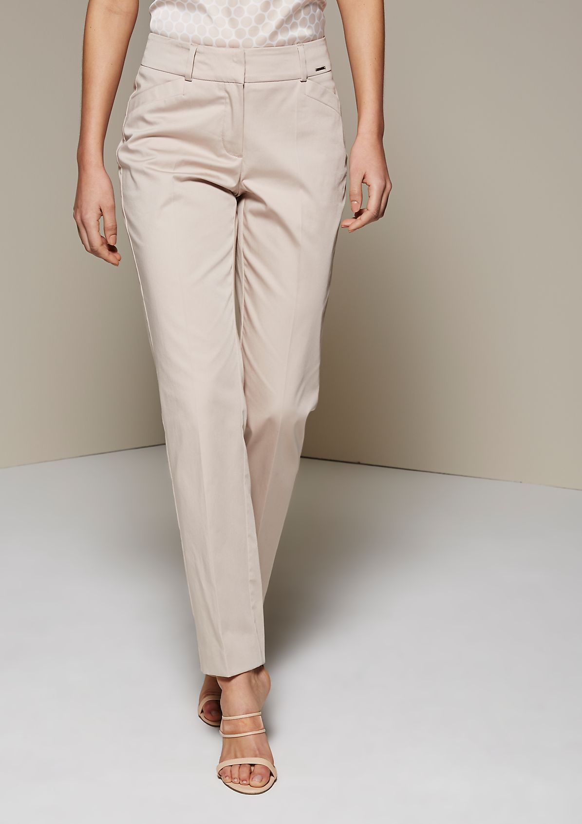 Lightweight business trousers made of fine satin from s.Oliver